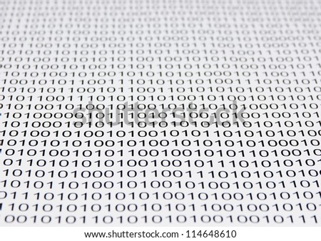 background of a binary code