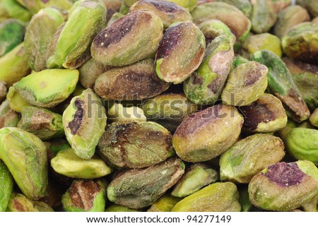 background of dried pistachio nuts