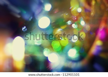 background with bokeh lights