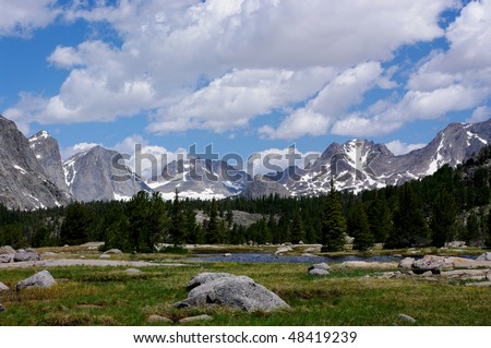 """""""Backpacker's Heaven"""" first glimpse in Wyoming's Wind River Mountain Range"""