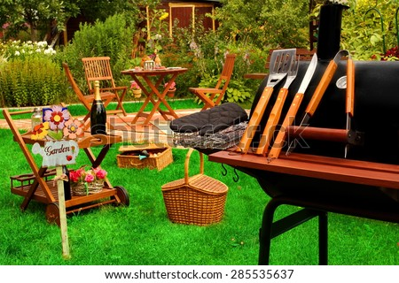 Backyard  BBQ Grill Party Or Picnic Concept - Shutterstock ID 285535637