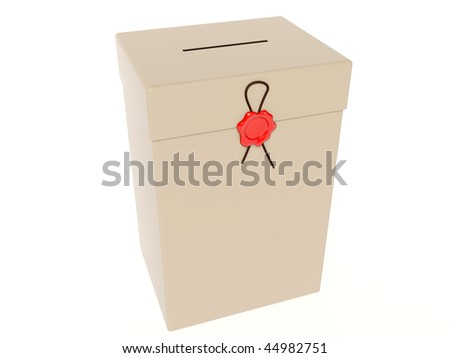 ballot box with red wax