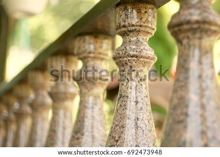 Balusters from granite
