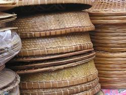 Bamboo basketry, wickerwork, wicker, basket making