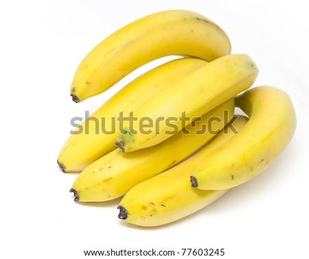 Bananas isolated on white background isolated on white background