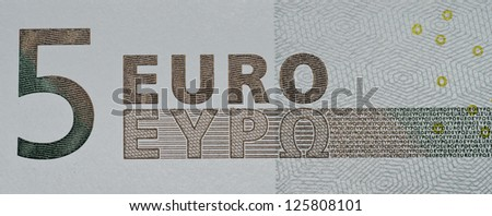� 5 banknote - stock photo