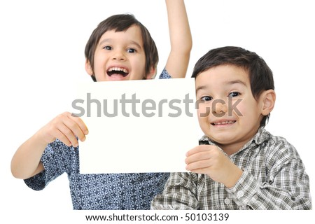 Banner for your text or picture with 2 children