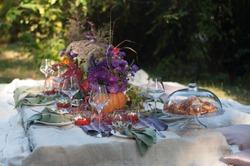 banquet in the autumn park