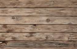 Barn Wooden Wall Planking Texture. Old Solid Wood Slats Rustic Shabby  Background. Faded Natural Wood Board Panel Structure.horizontal  wooden boards close-up