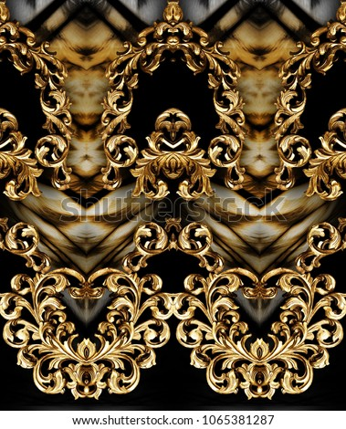 baroque and leopard skin #1065381287