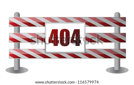 404 barrier illustration design over white background