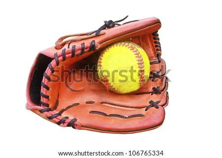 baseball glove hold a ball