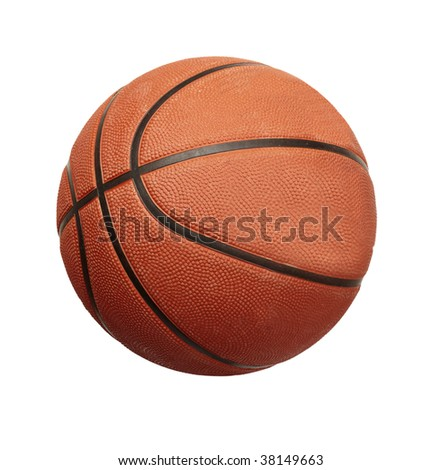 basketball  ball on white background with clipping path