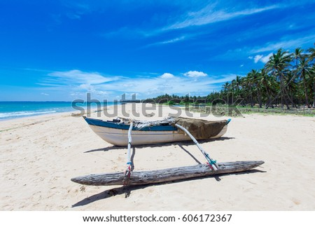 beach and tropical sea #606172367