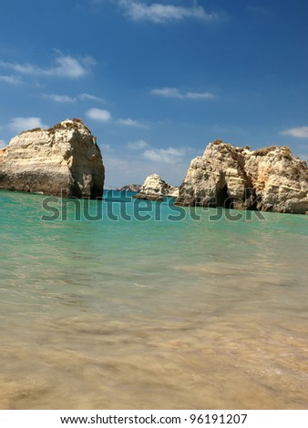 Beach of Praia da Rocha in Portimao, Algarve