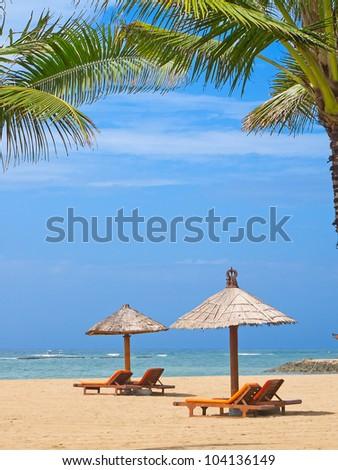 beautiful balinese Nusa Dua beach