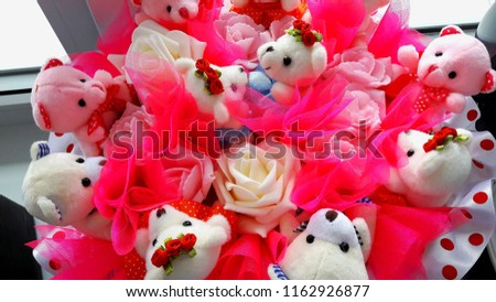 beautiful bouquet of teddy bears for a holiday for your beloved #1162926877