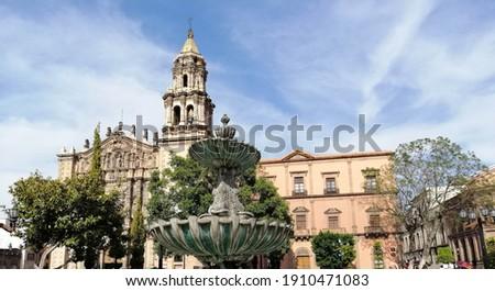 Beautiful classic city in Mexico, San Luis Potosi. Stockfoto ©