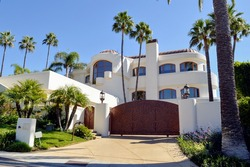 Beautiful mansion in an upmarket residential neighborhood of Los Angeles. Pacific Palisades, CA.