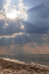 Beautiful sky, afternoon at the Baltic Sea