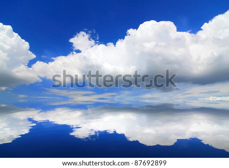 beautiful sky and cloud background