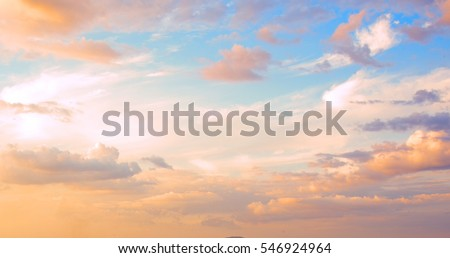 Beautiful sky with cloud  before sunset Stockfoto ©
