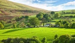 Beautiful spring landscape in Lake District National Park, Cumbria, England, UK