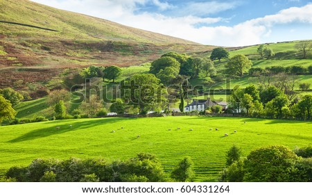 Beautiful spring landscape in Lake District National Park, Cumbria, England, UK