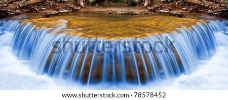 beautiful waterfall panorama