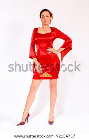 Beautiful Woman Wearing Red Dress