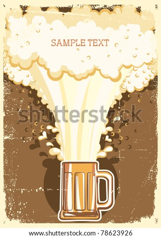 Beer background.llustration for text.Raster