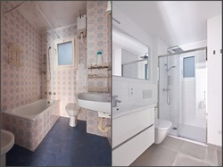 Before and after bathroom renovation in Barcelona