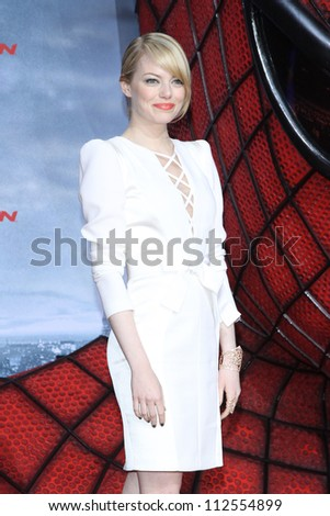 'BERLIN - JUNE 20: Emma Stone attends the Germany premiere of ''The Amazing Spider-Man'' at Sony Center on June 20, 2012 in Berlin, Germany.