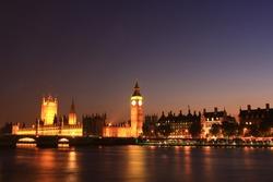 Bigben night light with river thames it beautiful city at london uk