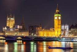 Bigben, Westminister bridge at Night, London