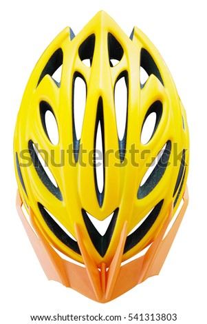 Bike helmet Cycling helmet isolated on white with clipping path.                         #541313803