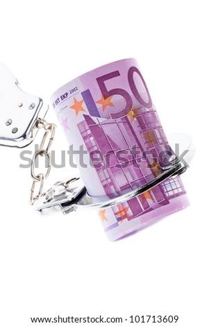 �¢â���¬ 500 bill with handcuffs