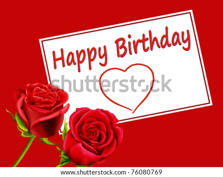 Happy Birthday Roses Card Birthday Card With Roses And Quot