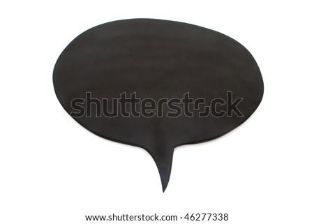 black board speech bubble