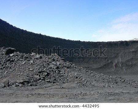 Black coal mine in Czech republic