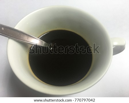 Black coffee in coffee mug