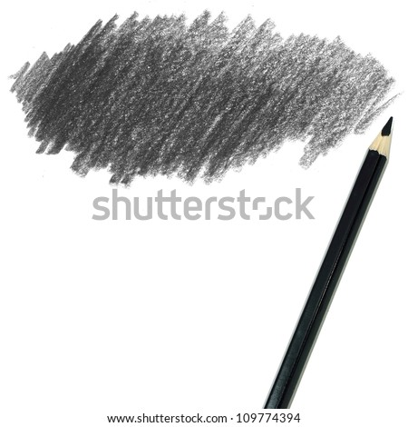 black colored pencil drawing  on a white background
