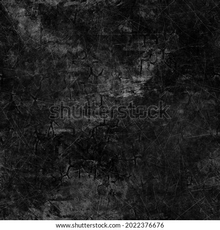black grungy dirty distressed background. High-quality illustration. Messy scratched worn moody chalkboard or concrete wall texture. Ragged downtown tattered urban design. Foto stock ©