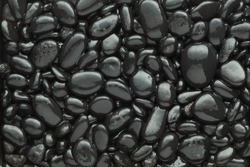 Black pebble  background