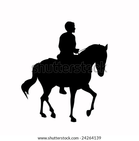 Galloping Horse Silhouette Galloping Horse And Rider