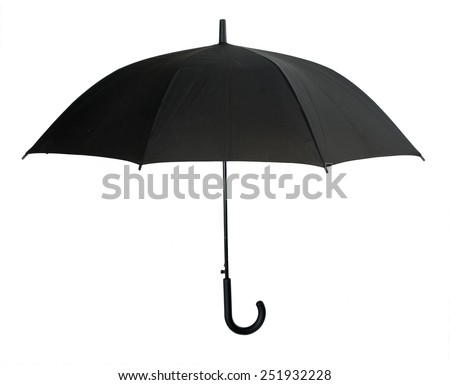 black umbrella isolated on white background  #251932228