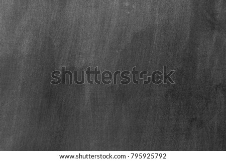 Blackboard with space to add text or graphic design. chalk rubbed out on chalkboard for background. education of school concept.