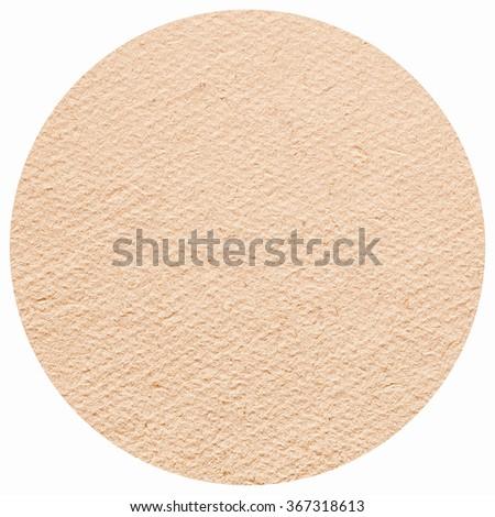 Blank cardboard beermat for a pint of beer isolated over white background vintage