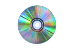 Blank CD, isolated on a white background. Clipping path
