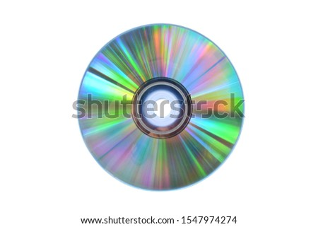 Blank CD, isolated on a white background. Clipping path Foto stock ©